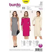 Burda tamaño patrón de costura para mujer Petite 6890 - sábana bajera para Cama para vestidos