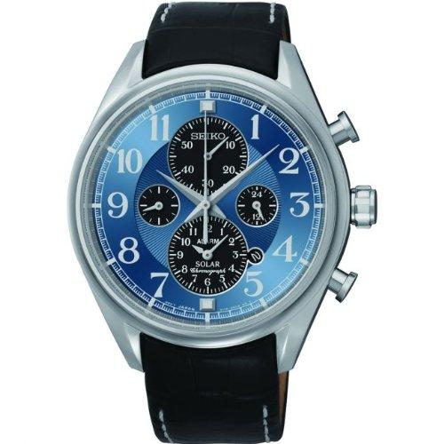 21f8bd5dcb1 Men s Watches - Seiko Solar Alarm Chronograph Mens Blue Dial Black ...