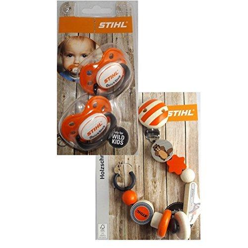 Preisvergleich Produktbild Schnuller Schnullerkette Nuckel Baby Set STIHL Bundle Baby Set