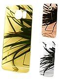 Samsung Galaxy S8 Edel Elegant Handy Hülle Schutzhülle Transparent Bumper Tasche Cover Case mit Rückseite Spiegel Backcover aus TPU Silikon in Gold