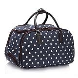 LeahWard® Damen Mittlere Größe Reisetasche Gepäck Reisetasche mit Rad Handgepäck UrlaubTaschen (Marine DOT)