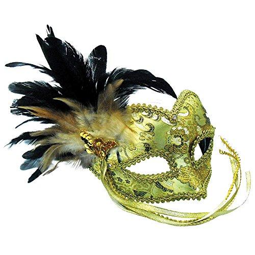 3Eye Maske mit geflochtenen Muster auf, Kopfband, Gold, One Size ()