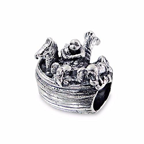 Silvadore Silbere Bead Noahs Arche Antikes Boot Schiff Segel Tiere Pferd Affe Giraffe und so weiter 925 Sterling Charme 3D Rutschbahn auf Anfälle Pandora europäisches Armband freies Geschenk boxte