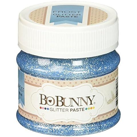 Bo Bunny pasta Double Dot-Pasta con Glitter, colore ghiaccio