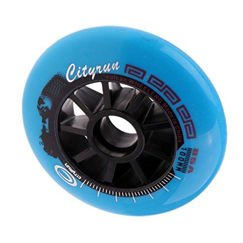 MagiDeal Outdoor Inliner Ersatzräder Inline-Skates Rollen 90 mm/100 mm/110 mm - Blau, 100 mm