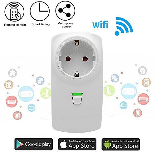 Intelligente WLAN Steckdose, WiFi Fernbedienung Steckdose Timer Steckdose Kompatibel mit Alexa Unterstützung Android und iOS-Anwendung weiß (Apple Fräser)
