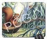 POGJY Gaming Mauspad 7 x 8 Inches, Mousepad, Verbessert Präzision und Geschwindigkeit, Gummiunterseite für Stabilen Halt auf Glatten Oberflächen, Rutschfest, Strapazierfähig Schwarz - Tanzender Bär image 434