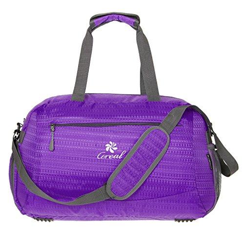 Coreal Duffle Bag mier weekender seesack tasche reisetasche mit schuhfach unisex sporttasche Lila