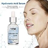 Suero de Ácido Hialurónico para la Cara 30 ml - Con Vitamina C & E -Y.F.M facial hidratante serum para anti-envejecimiento y anti-arrugas