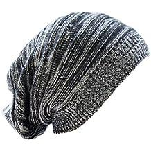Tuopuda® Unisexe Tricoté Slouch Bonnet Hiver Chaude Bouffant Beanie Chapeau  Long Mailles Pliquer Casquettes Hat 6c9c855ad17