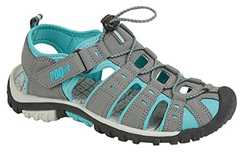Ladies Terminale Toggle Chiusura & Touch Sports Trail sandali Grey/Jade