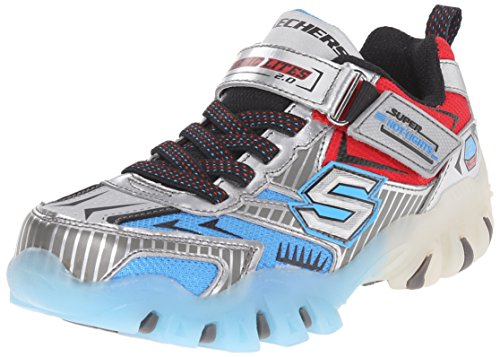 skechers-street-lightz-fast-lane-sneakers-basses-garcon-argent-silber-slbl-taille-33