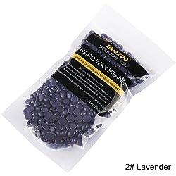 Weicici 10 Aroma Enthaarung Hartwachs-bohne Schmerzlos Wachsen Haarentfernung für Frauen und Männer 100G (#Lavender)