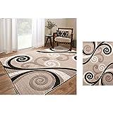 WUCONG Teppich Wohnzimmer Couchtisch Schlafzimmer Modern und Einfach Europäischen Stil Sofakissen Slip Nordic Amerikanischen Haushalt Nachtdecke (Farbe : D, größe : 80 * 120CM)