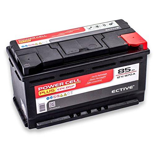 Preisvergleich Produktbild ECTIVE EPC PLUS-Serie | 12V Autobatterie | 8 Varianten: 47Ah - 105Ah | Inkl. 7,50 EUR Batteriepfand | 12 V Starterbatterie, KFZ-Batterie