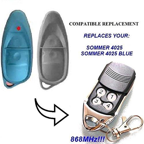 SOMMER 4025 TX02 - 868-2 Compatible 868,8 mhz distancia de repuesto para mando, 868, 8 mhz! slider transmisor de alta calidad! 100% Compatible con 868,8 mhz Sommer mandos a distancia! Código Rolling!