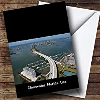 Clearwater Florida, USA, Personalised Birthday Greetings Card