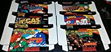 6 LOT Official Nintendo For Display Only SNES Empty Game Boxes Yoshi's island ,Donkey Kong 2, Ken Griffey,F-zero, kirby's Dream Course, Vegas stakes by Nintendo