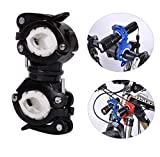 Lukzer 1 PC Torch Holder for Bicycle 360 Degree Rotation Torch Stand Flash