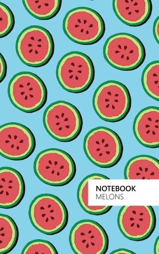Melons Notebook: (Powder Blue Edition) Fun notebook 96 ruledlined pages (5x8 inches  12.7x20.3cm  Junior Legal Pad  Nearly A5)