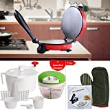 DETAK MasterCook Roti Maker With Mini Chopper/Mitten,CD,Dough Maker