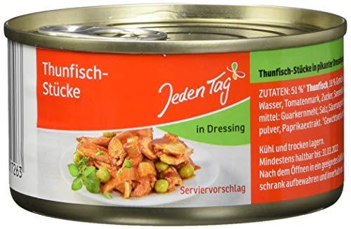 Jeden Tag Thunfisch - Stücke in Dressing, 48er Pack (48 x 185 g)