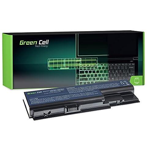 Green Cell® Standard Série Batterie pour Acer Aspire 6530 6530G 6920 6930 6930G 6935 7220 7520 7535 7535G 7738 7738G 7540 7540G 7720 7730 7740 7740G Ordinateur PC Portable (6 Cellules 4400mAh 10.8V Noir)