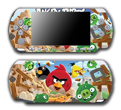 Angry Birds Red Chuck Bomb Pig Video Game Vinyl Decal Skin Sticker Cover for Sony PSP Playstation Portable Slim 3000 Series System by Vinyl Skin Designs Angry Birds Psp
