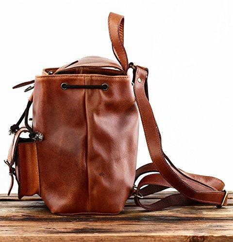 sélection premium 99de6 161e2 PAUL MARIUS Vintage leather backpack LE BAROUDEUR rucksack vintage style