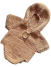 TININNA Body para bebé Pelele de disfraz de sesión de fotos hecho a mano de punto