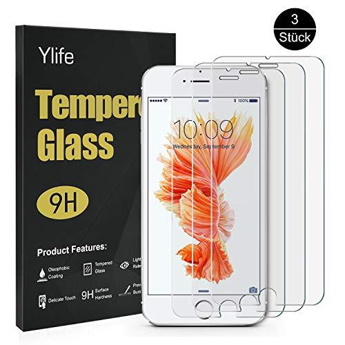 Ylife Panzerglas Schutzfolie Kompatibel iPhone 6 Plus iPhone 6s Plus, (3 Stück) 9H Härte Transparent Displayschutzfolie, 5.5 Zoll HD Panzerglasfolie, Anti-Bubble, Anti-Fingerabdruck, Anti-Kratz (Zu Iphone Plus-bildschirm Schützen)