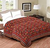 #8: Handcraftd Pure Cotton Jaipuri razai/rajai Traditional sanganeri Print Double Bed Quilt Blanket - 90 inch x 103 inch, Multi-Color,