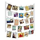 Umbra Hangit Fotowand - Collagenbilderrahmen mit Drahtgarn und Mini Wäscheklammern zum Aufhängen...