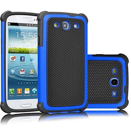 Galaxy S3Fall, tekcoo (TM) [tmajor Serie] [blau/schwarz], Hybrid Gummi Kunststoff Impact Defender Rugged Slim Hard Case Cover Shell für Samsung Galaxy S3S III i9300GS3alle Netzbetreiber