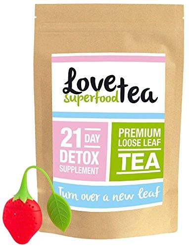 LOVE SUPER FOOD TEA | THÉ PREMIUM POUR PERDRE DU POIDS, GOÛT DÉLICIEUX (21 jours | Thé en feuilles)