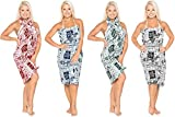 La Leela 100% coton hibiscus coeur bétel pareo wrap couvrir sarong 78x39 pouces