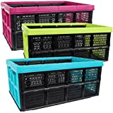 Klappbox, 32 Liter, 51 x 34 x 23cm, farbig sortiert, Polypropylen