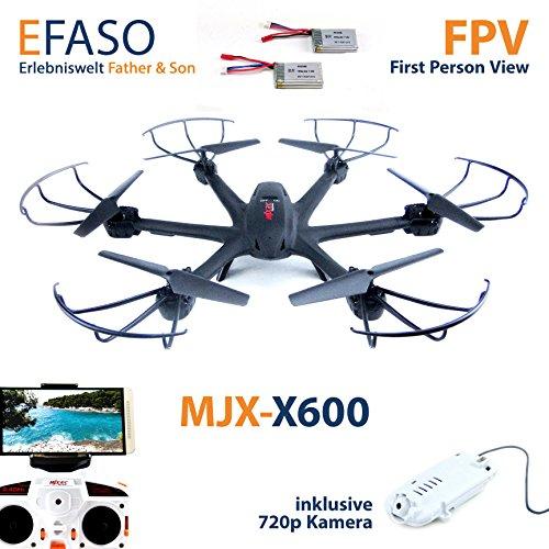 Preisvergleich Produktbild MJX X600 plus 2 Zusatzakkus mit C4010 HD WIFI Kamera - 2.4 GHz Quadcopter, 720p HD FPV