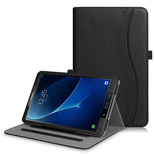 Fintie Hülle für Samsung Galaxy Tab A 10,1 Zoll T580N / T585N Tablet - Multi-Winkel Betrachtung Schutzhülle Cover Case Tasche mit Dokumentschlitze, Standfunktion, Auto Wake/Sleep Funktion, Schwarz