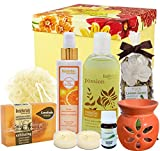 BodyHerbals Beautiful Day Spa Hamper (Vanilla shower gel with skin conditioners 200ml, Orange Natural Moisturising Body Lotion 200ml, Vitamin- C Skin