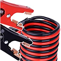 MEIBEI Jumper Cables 2 Gauge Heavy Duty, Extra Long (11 Feet) High Capacity (400 AMP) Car Emergency Battery Cables, Booster Cables Alligator Clamps, 100 Firewire Cables Copper Wires, With Carry Case