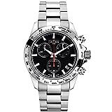 Davosa Swiss Speedline 16347055 Analog Men Wrist Watch Steel Band Black Face