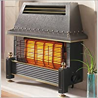 Flavel Regent Gas Fire - Natural Gas Heater, Outset Fireplace - Regency Style - Black