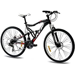 "26"" KCP MOUNTAIN BIKE BICYCLE ATTACK 21 speed SHIMANO UNISEX black - (26 inch)"