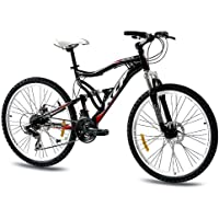 "KCP 26"" MOUNTAIN BIKE BICYCLE ATTACK 21 speed SHIMANO UNISEX black - (26 inch)"