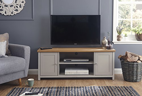Lancaster Grey Living Room Furniture Range (Large Tv Cabinet)