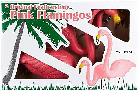 Pair of Genuine Don Featherstone Pink Plastic Garden Yard Lawn Flamigos