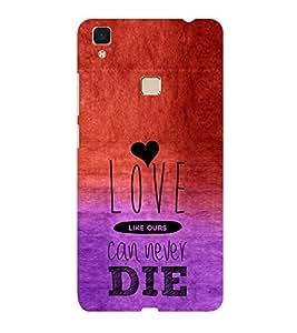 ifasho Designer Phone Back Case Cover Vivo V3 ( I love Gurgaon Blue Wood Look )