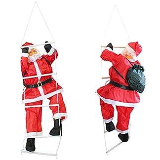 [lux.pro] Papá Noel en la escalera – (150cm-90cm) decoracion navidad