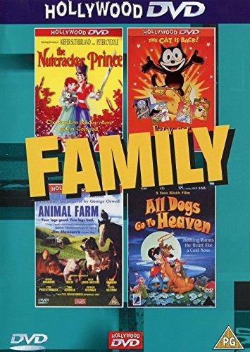 Family- The Nutcracker Prince/Animal Farm/Felix The Cat/All Dogs Go To Heaven (4 FILMS/2DVD'S) -